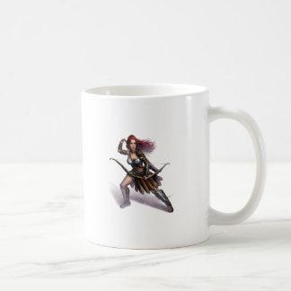 Rowen action art classic white coffee mug