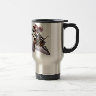 Rowen action art 15 oz stainless steel travel mug