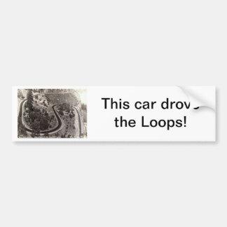 Rowena Loops, Columbia River Hwy, OR Vintage Bumper Sticker