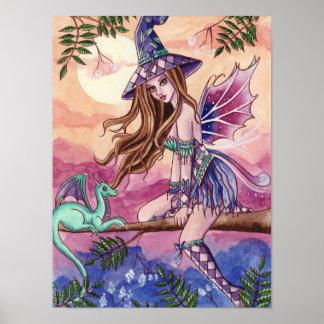 Rowenia - Dragon Fairy Poster