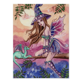Rowenia - poster de la hada del dragón