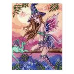 Rowenia - Witch and Dragon Postcard