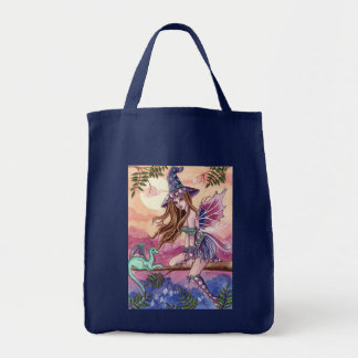 Rowenia - Witch and Dragon Tote Bag