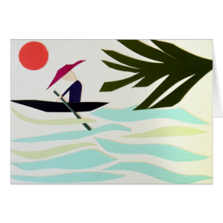 Rower Greeting Card