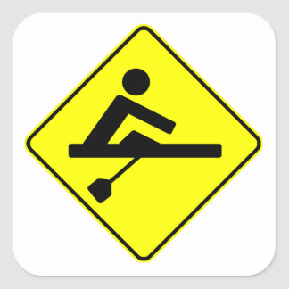 Rower Crossing Square Sticker