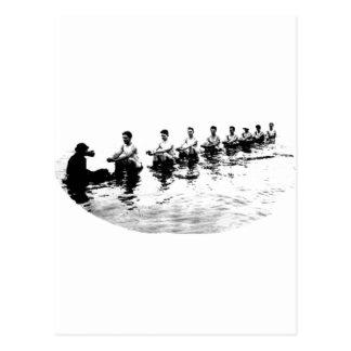 Rower de hundimiento del equipo de 8 hombres tarjeta postal
