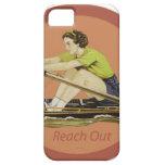 Rower de la mujer del vintage iPhone 5 protector