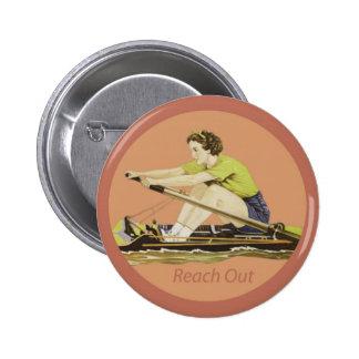 Rower de la mujer del vintage pin