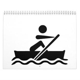 Rower del Rowing Calendario