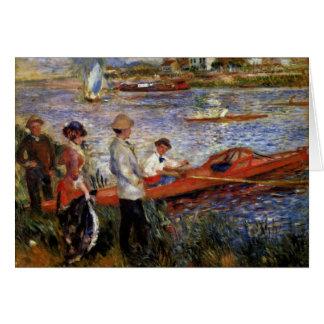 Rowers de Chatou de Pierre-Auguste Renoir Tarjeta De Felicitación