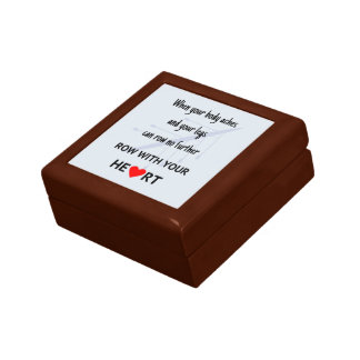 Rowers motivational quote keepsake box