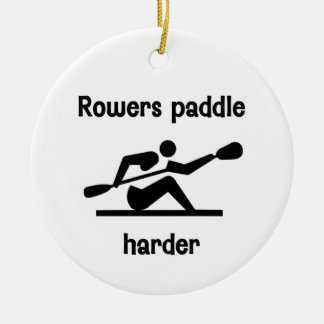 Rowers Paddler Harder Ceramic Ornament