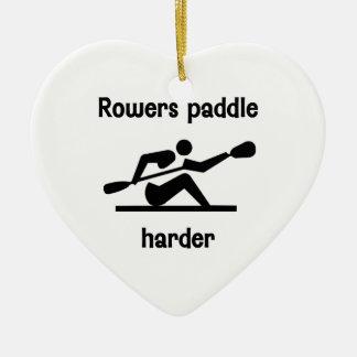 Rowers Paddler Harder Ceramic Ornament