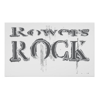Rowers Rock Poster