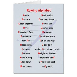 Rowing Alphabet fun A to Z Card