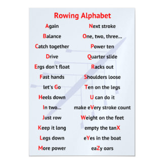 Rowing Alphabet fun A to Z Magnetic Invitations
