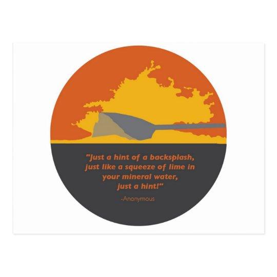 Rowing Backsplash Postcard