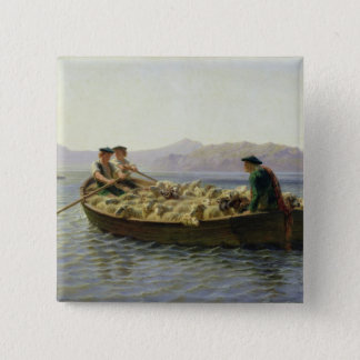 Rowing-Boat, 1863 Pinback Button
