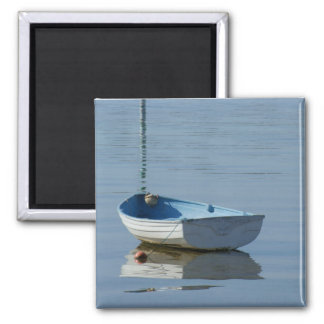 Rowing Boat 2 Inch Square Magnet