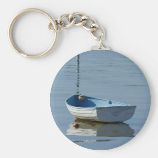 Rowing Boat Basic Round Button Keychain