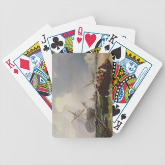 Rowing Boat Going to the Aid of a Man-o'-War in a Bicycle Playing Cards