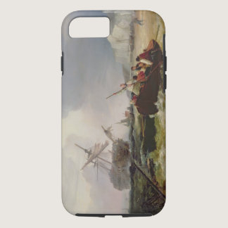Rowing Boat Going to the Aid of a Man-o'-War in a iPhone 8/7 Case