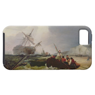 Rowing Boat Going to the Aid of a Man-o'-War in a iPhone SE/5/5s Case