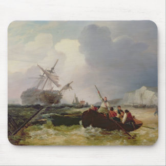 Rowing Boat Going to the Aid of a Man-o'-War in a Mouse Pad