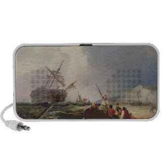 Rowing Boat Going to the Aid of a Man-o'-War in a iPhone Speaker