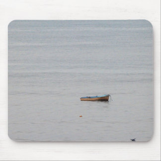 rowing boat in sea mouse pad