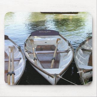Rowing boats at Stratford upon Avon UK Mouse Pad