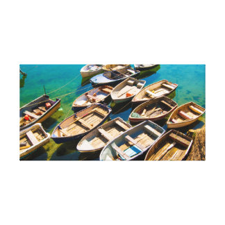 Rowing Boats Canvas Print