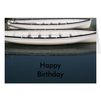 Rowing Boats  Happy Birthday Card