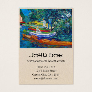 Rowing Boats on the Banks of the Oise Business Card