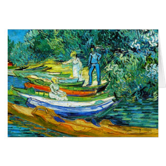 Rowing Boats on the Banks of the Oise Card