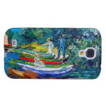 Rowing Boats on the Banks of the Oise Samsung Galaxy S4 Case