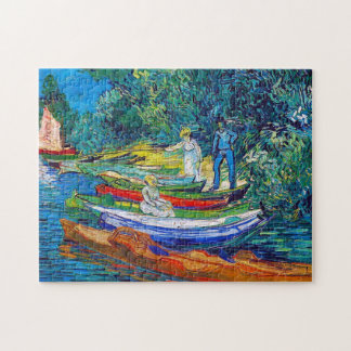 Rowing Boats on the Banks of the Oise Jigsaw Puzzle