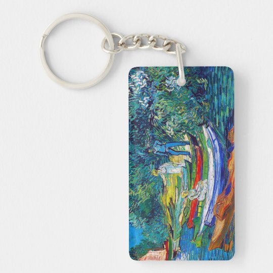 Rowing Boats on the Banks of the Oise Keychain
