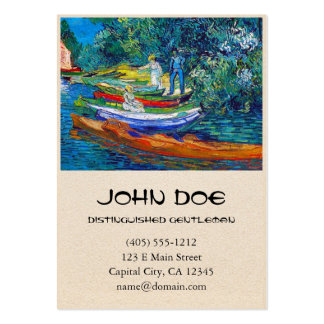Rowing Boats on the Banks of the Oise Large Business Card