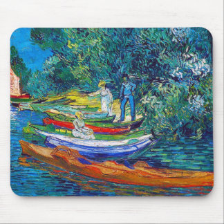 Rowing Boats on the Banks of the Oise Mouse Pad