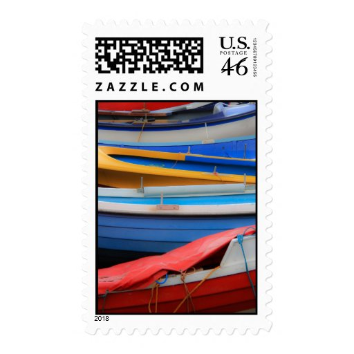 Rowing Boats Postage Stamp
