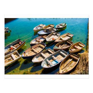 Rowing Boats Postcard