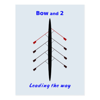 Rowing bow two lead the way postcard