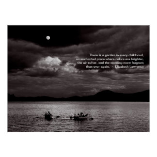 Rowing by Moonlight Print