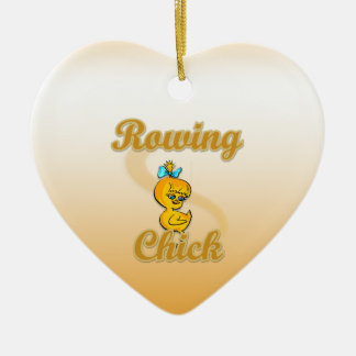 Rowing Chick Christmas Tree Ornament