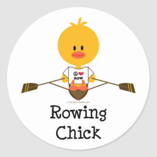 Rowing Chick Stickers