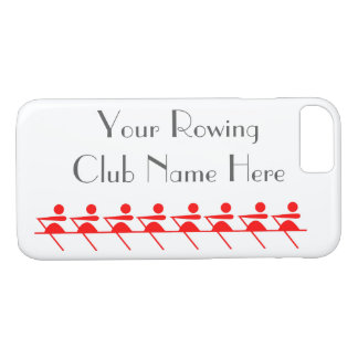Rowing Club, Sculling Icon in Red iPhone 7 Case
