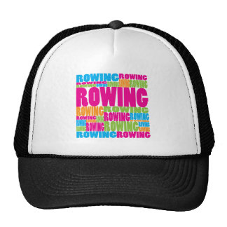 Rowing colorido gorro de camionero