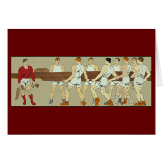 Rowing Crew by Penfield Greeting Card