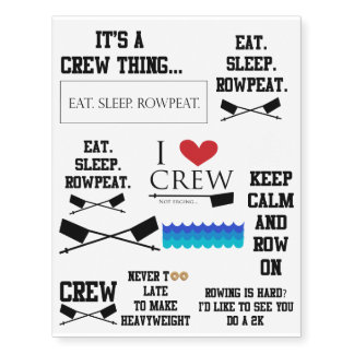 Rowing daily Tattoo Stickers